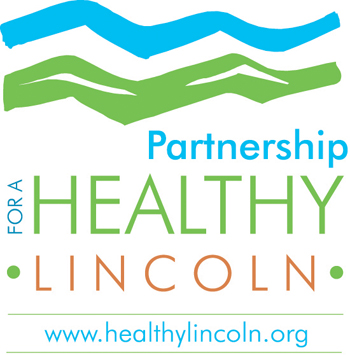 Partnership for a Healthy Lincoln LOGO with website copy