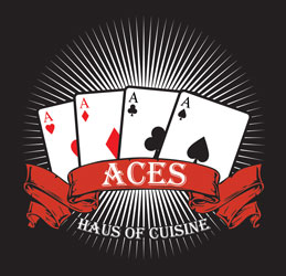 aces haus of cuisine restaurant logo lincoln