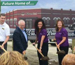 Midwest Bank Breaking ground in Pilger
