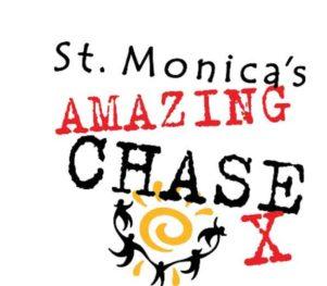 St. Monica's Amazing Chase Logo