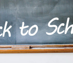 Back to school - black board header