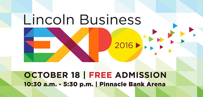 Lincoln Business Expo 2016 - logo with date and time