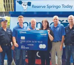 Springo Water award $50k