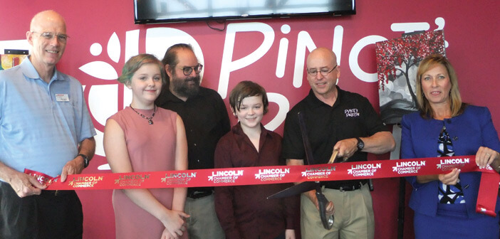 Pinot's Palette Lincoln - Ribbon cutting