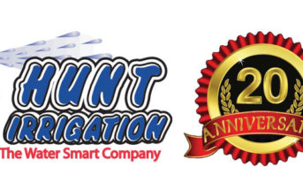 Hunt Irrigation, Inc. 20th Anniversary Logo