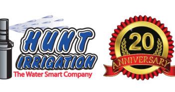 Hunt Irrigation, Inc. 20th Anniversary Logo