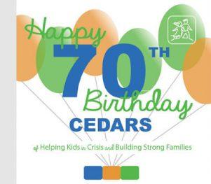 Cedars 70th Birthday Logo