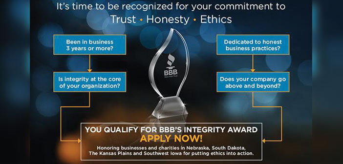 Bbb Offers Free Workshops For Integrity Award Applicants Strictly Business Magazine Lincoln