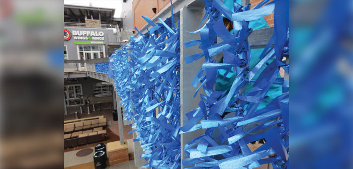 CEDARS - Child Abuse Prevention Month - Blue Ribbon display