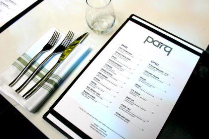 Travel Series Destination San Diego - Parq Restaurant - Menu