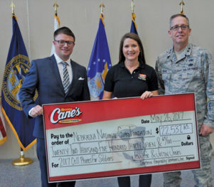 Raising Cane's Nebraska National Guard Foundation
