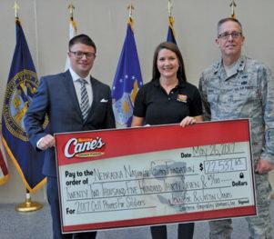 Raising Cane's Nebraska National Guard Foundation