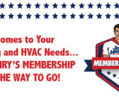 When It Comes to Your Plumbing and HVAC Needs… John Henry's Membership Club is the Way to Go!